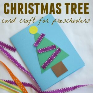 Christmas Tree Card Craft for Preschoolers