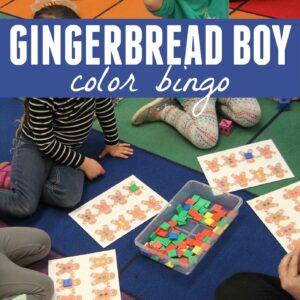Gingerbread Boy Color Bingo Game