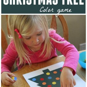Roll a Christmas Tree Color Game