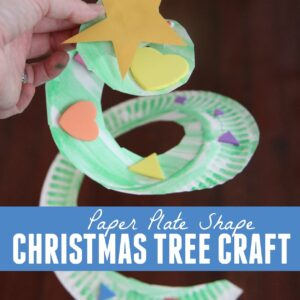 Paper Plate Shape Christmas Tree Craft