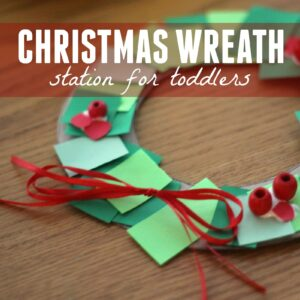 Toddler Christmas Wreath Making Station