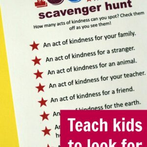 Kindness Scavenger Hunt