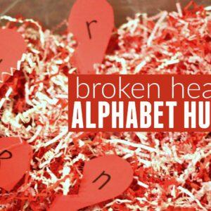 Broken Heart Alphabet Hunt