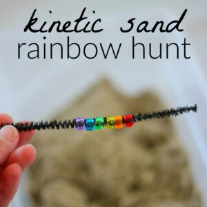 Kinetic Sand Rainbow Sensory Play
