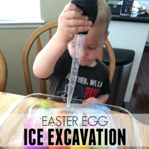 Easter Egg Ice Excavation