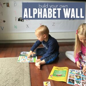 Build An Alphabet Wall with Preschoolers