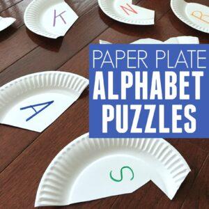 Alphabet Paper Plate Puzzles