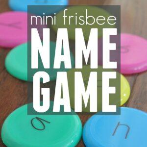 Mini Frisbee Name Game
