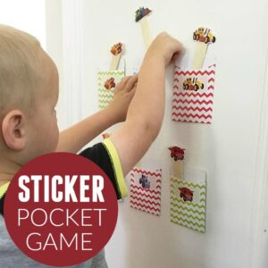 Sticker Pocket Matching Game for Preschoolers