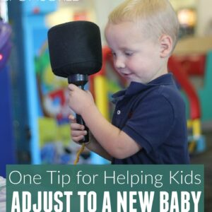 My Favorite Tip for Helping Siblings Adjust to a New Baby {Plus Chuck E. Cheese's giveaway}