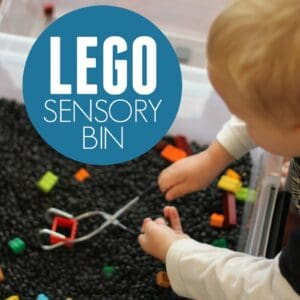 Super Quick to Make LEGO Sensory Bin for Kids