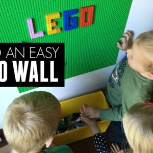 Build An Easy Removable LEGO Wall
