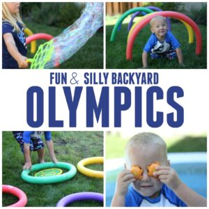 2 Simple and Silly Backyard Olympics Ideas for Kids