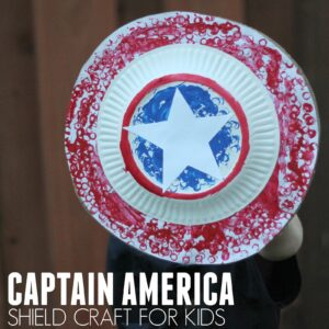 Easy Captain America Shield Craft for Kids Using LEGO