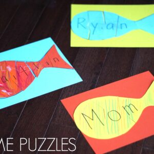 Easy and Colorful Name Puzzle for Preschoolers