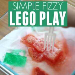 Simple Fizzy Play with Frozen LEGO bricks