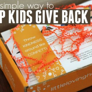 One Simple Way For Kids to Give Back While Crafting | Little Loving Hands