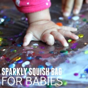 The Easiest Sparkly Squish Bag for Babies