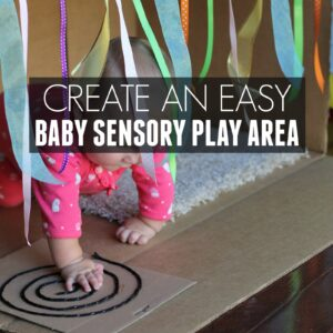 Easy Baby Sensory Play Area Ideas