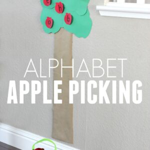 Post-It Fall Apple Picking Activity for Toddlers