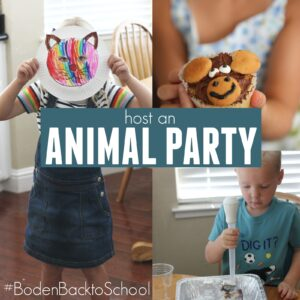 Back to School Animal Party with Boden