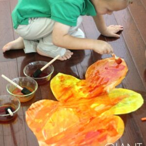 Giant Colorful Watercolor Fall Leaves for Kids