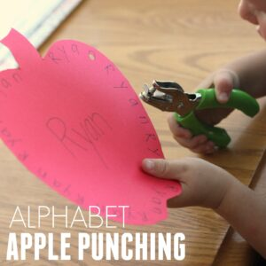 Alphabet Apple Punching Activity