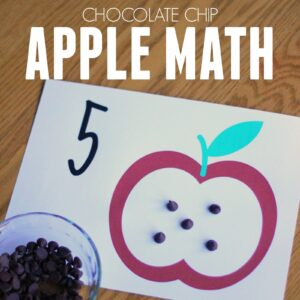 Awesome Chocolate Chip Apple Math for Kids