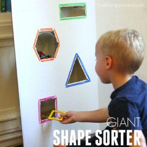 Amazingly Easy Giant Shape Sorter for Kids