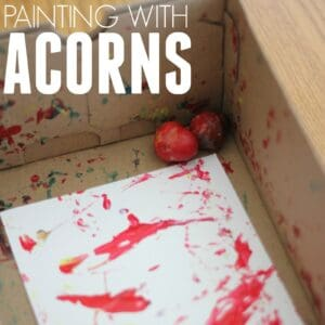 Easy Colorful Toddler Art: Painting with Acorns