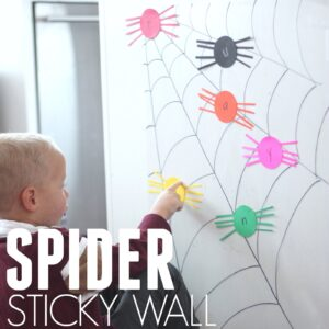 Alphabet Spider Sticky Wall