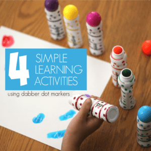 4 Easy Dabber Dot Marker Learning Activity Ideas for Kids