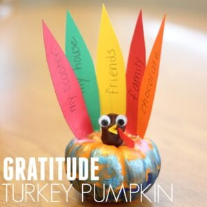 Easy Gratitude Turkey Pumpkin for Kids