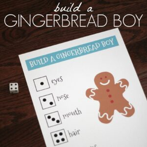 Build a Gingerbread Boy Number Game