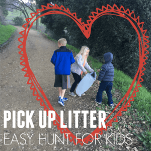 Pick Up Litter Scavenger Hunt for Kids- Kindness Challenge