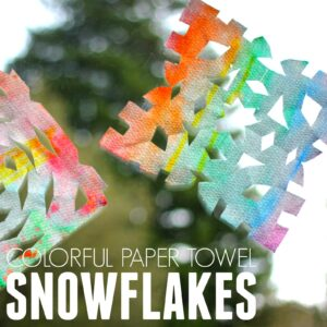 Easy Colorful Paper Towel Snowflakes