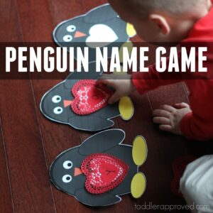 Penguin Name Matching Game for Preschoolers