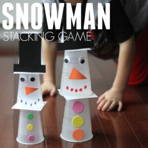Snowman Stacking Game