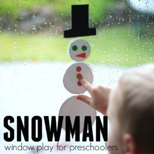 Awesome Snowman Window Play for Preschoolers