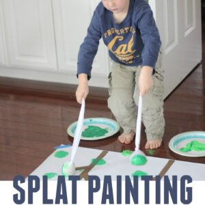 Splat Painting Inspired by The Gruffalo