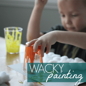 Wacky Painting for Kids Inspired by Wacky Wednesday