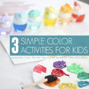 3 Simple Rainbow Color Activities for Kids | Color Wonder: Hooray for Spring Review