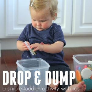 Drop and Dump Toddler Lid Activity