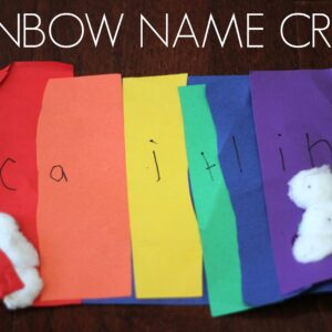 Easy Rainbow Name Craft for Kids
