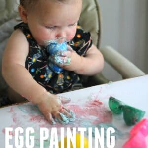 Crack Egg Painting for Toddlers with Edible Paint