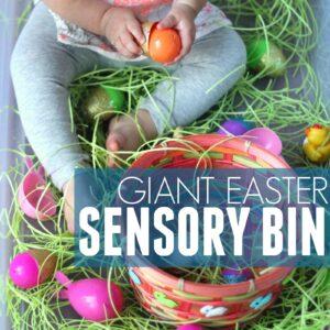 Giant Easter Sensory Bin for Toddlers
