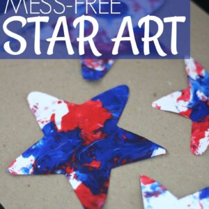 Mess Free Patriotic Star Painting