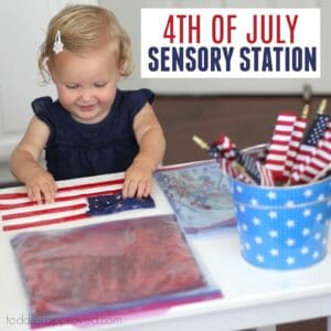 Easy 4th of July Sensory Station for Kids