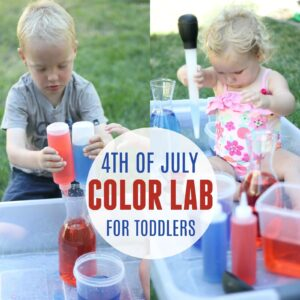4th of July Color Lab for Toddlers