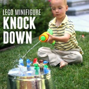 LEGO Minifigure Knock Down Game